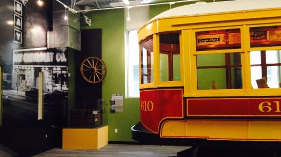 Aurora History Museum: Trolley Trailer No. 610 in the Growing Home exhibit