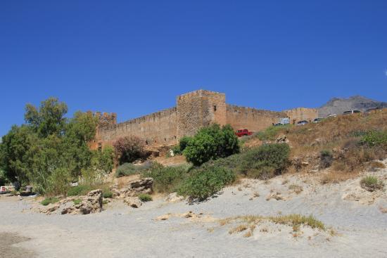 Frangokastello, Grecja: Zamek przy plaży