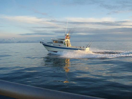 Crooked Creek Retreat & Outfitters : one of the salt water boats headed out for Halibut or a Multi Species trip