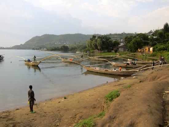 Lake Kivu: fishing boats