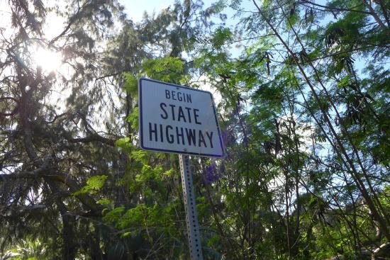 Halawa Valley: State highway begins there too