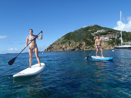 SUP St. John - Learn to Paddleboard in the USVI: Mid-lesson photo op