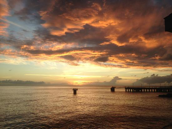 Nature Island Dive Resort: Dominica at sunset