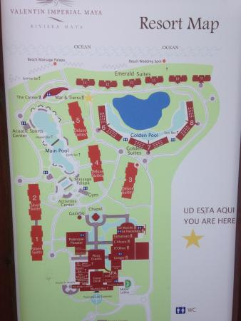 Map Picture Of Valentin Imperial Riviera Maya Playa Del