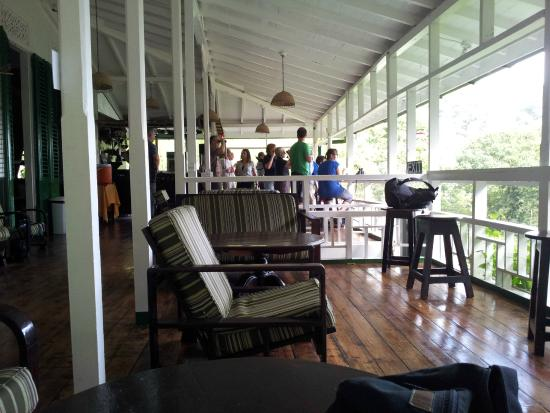 Asa Wright Nature Centre and Lodge: verandah for bird spotting, tea and rum punch