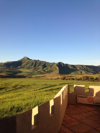 Castle in Clarens: View from balcony
