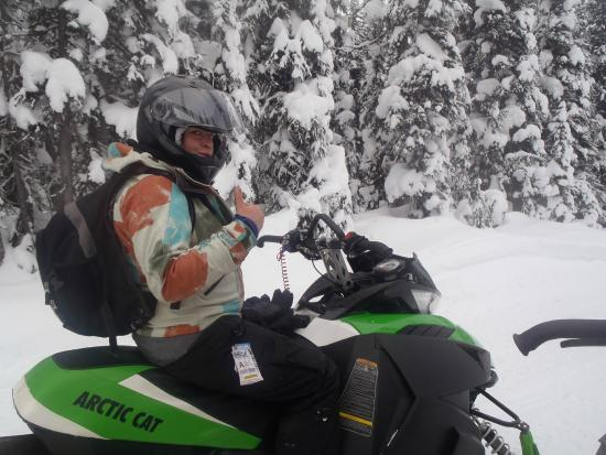 Golden Snowmobile Rentals & Tours: Chillin on the Sled