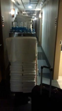 Hotel 81 - Star: The Room-cleaning  cart always in the Lobby.