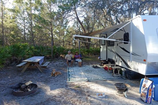 Lake Manatee State Park : our campsight by day