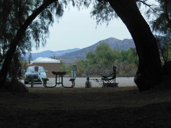 Furnace Creek Resort & Fiddler's Campground: View from my tent