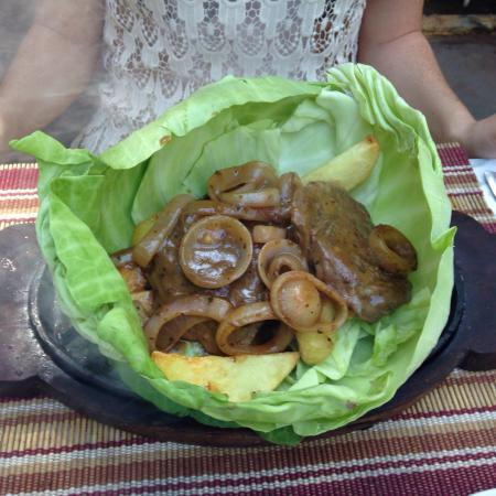 Relish: Beef scallops sizzler