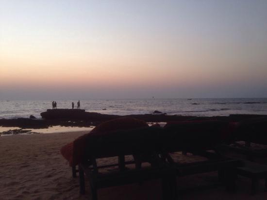 Tantra Beach Shack and Huts: View (sunset) from the restaurant