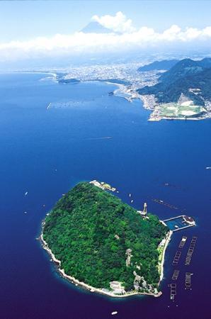Awashima Marine Park: 無人島「淡島」と「富士山」