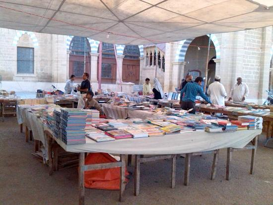 Frere Hall: A view of the book fair on Sundays