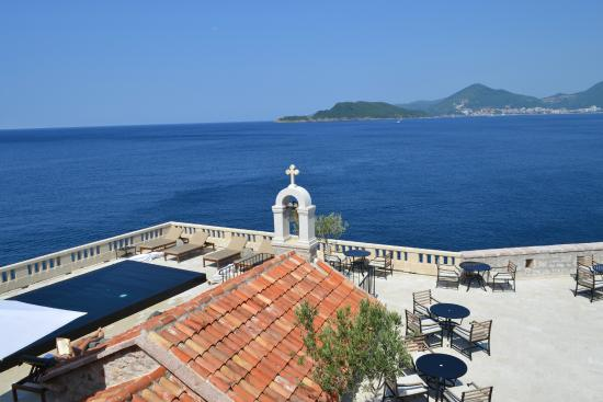 view from restaurant picture of aman sveti stefan sveti. Black Bedroom Furniture Sets. Home Design Ideas