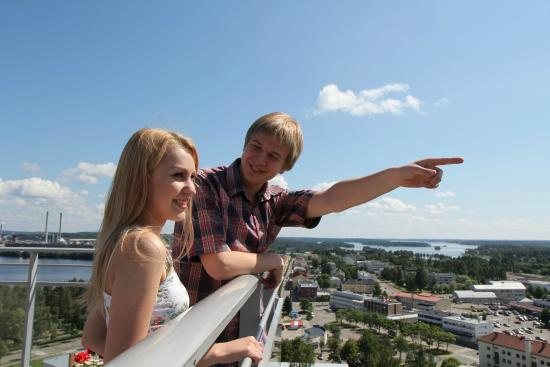 Varkaus, Finland: Torni Terrace Cafe and observation deck