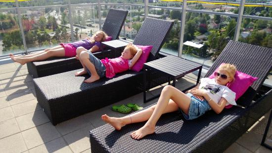 Varkaus, Finlandia: You can take a nap on Torni Terrace