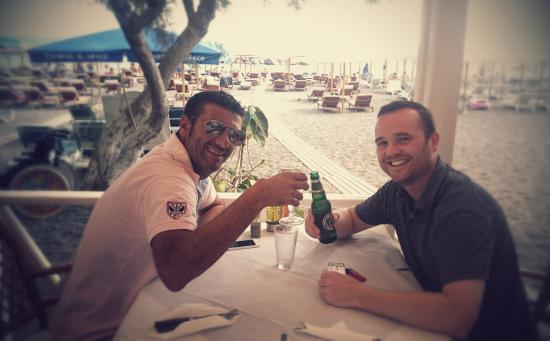 Villas and Mansions of Santorini: Last meal with Antonis