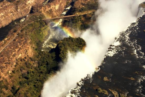 Gorges and Little Gorges Lodge: Arial view of Victoria Falls