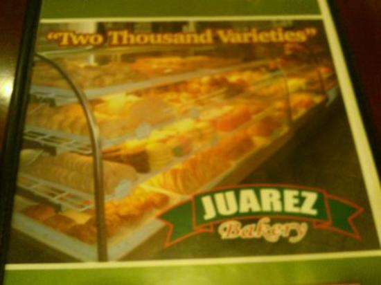Juarez Mexican Bakery : The menu