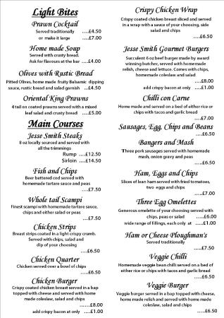 Cirencester, UK: Menu