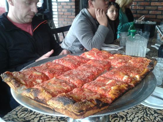 The Sicilian Pizza Picture Of L B Spumoni Gardens
