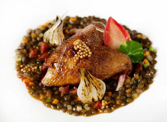 Petrus: Wood Pigeon with Alsace Puy Lentils