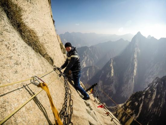 Zanimljivi putevi, staze, ceste Mountain-huashan-plank