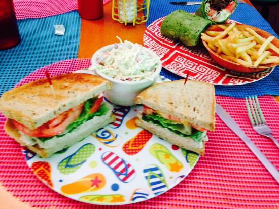 Cathy's Beach Connection: Tuna Salad & Gyro Sandwitch