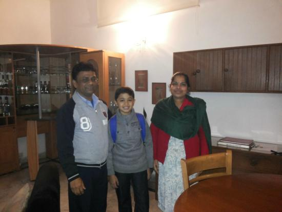 BnB Chrysalis: with Sapan and Kusum in the living area