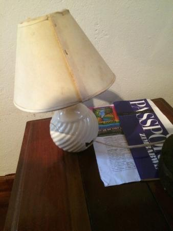 Gerties Lodge Victoria Falls : Does this lamp look like it's been changed since 1950?   That's what the rest of the room looks