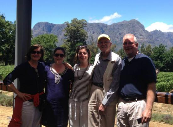 Gourmet Wine Tours: A photo with stephen at the beautiful thelema vineyard