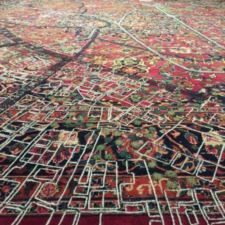 Aga Khan Museum Persian Rug With Embroidered Map Awesome