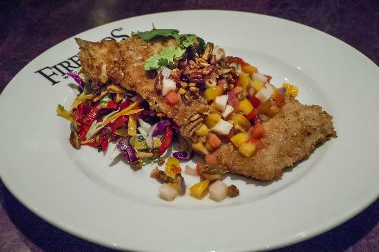 Firebirds Wood Fired Grill Pecan Encrusted Trout