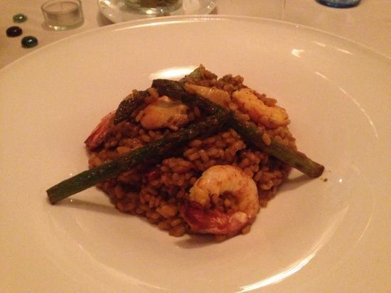 La Trastienda del Cuatro: Risotto asparagi e crostacei