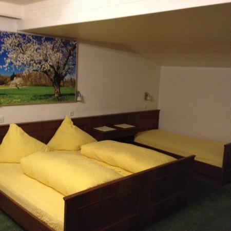 Landhaus Riedlsperger: 3-Bett Zimmer, sauber, geräumig, Balkon. Das Bild ist leider die Heizung.