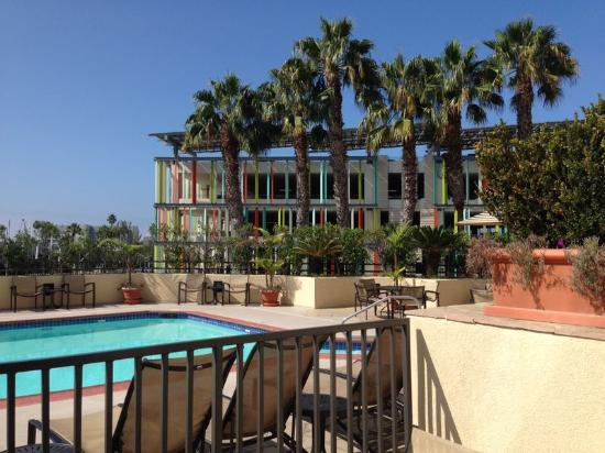 Pool View from Balcony - Picture of DoubleTree Suites by Hilton Santa Monica, Santa Monica ...
