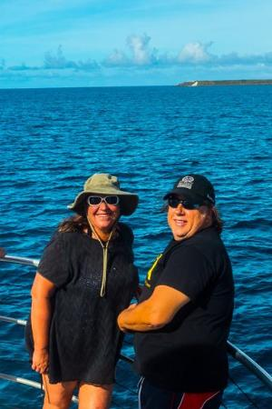 Micronesian Divers Association: On MDA Boat- coming out of Apra Harbor