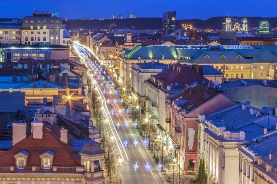 Vilniaus Katedros Varpine: Gediminas Avenue from Belfry
