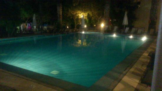 Naias Hotel: Bazen noću