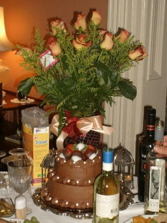 Ahern's Belle of the Bends : Mary did it up right for the surprise birthday party!