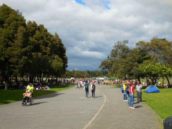 Parque Central Simón Bolivar: Lots of open space and waling paths