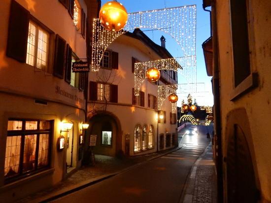 B&B Stein am Rhein: Christmas lights in Stein am Rhein
