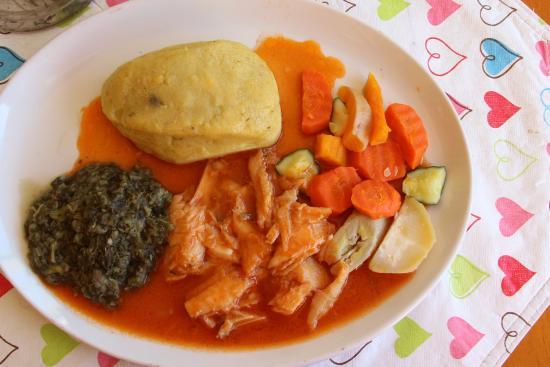 Caribbean Taste Restaurant: Stew Fish and Funge
