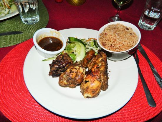 Swordfish Restaurant and Bar: Jerk chicken dinner