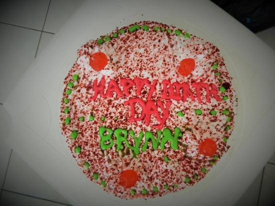 Swordfish Restaurant and Bar: Birthday Cake made by Colleen at Swordfish