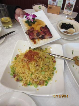 Jin Yue Xuan: 特製チャーハンとチャーシューハチミツ焼き