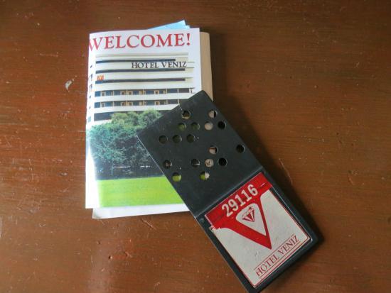 room ving card - Picture of Hotel Veniz, Baguio - TripAdvisor