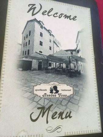 Hotel Rendez-Vous: меню