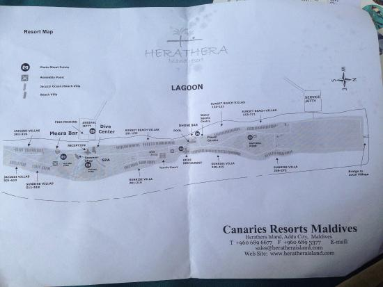 Canareef Resort Maldives Partial Map